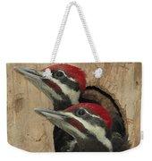 Baby Pileated Woodpeckers Peer Weekender Tote Bag