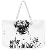 Baby Pug In Flowers Weekender Tote Bag