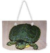 Baby Turtle Looking Up Weekender Tote Bag