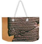 Babylonian Clay Tablet Weekender Tote Bag