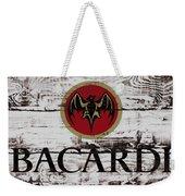 Bacardi Wood Art Weekender Tote Bag