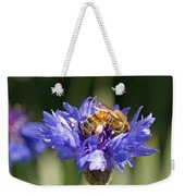 Bachelor Button And Bee Weekender Tote Bag