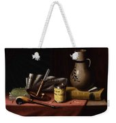 Bachelor S Table By William Michael Harnett Weekender Tote Bag