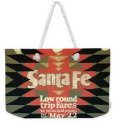 Back East Xcursions - Santa Fe, Mexico - Indian Detour - Retro Travel Poster - Vintage Poster Weekender Tote Bag