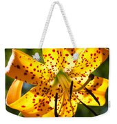 Back-lit Yellow Tiger Lily Weekender Tote Bag