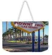 R.i.p. Back Of The Welcome To Downtown Las Vegas Sign Day Weekender Tote Bag