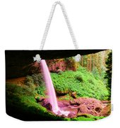 Back Side Of Silver Falls Weekender Tote Bag