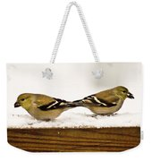 Back To Back American Gold Finches Weekender Tote Bag