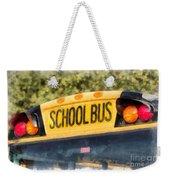Back To School Bus Watercolor Weekender Tote Bag