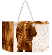 Back To Work - Sepia Weekender Tote Bag