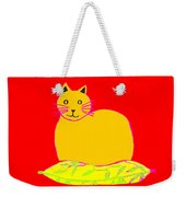 Background Colour Choice Saffron Cat Weekender Tote Bag