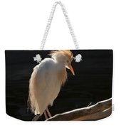 Backlit Egret Weekender Tote Bag