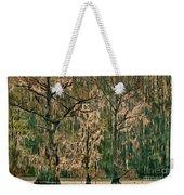 Backlit Moss-covered Trees Caddo Lake Texas Weekender Tote Bag