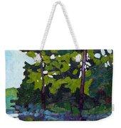 Backlit Pines Weekender Tote Bag
