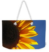 Backlit Sunflower Weekender Tote Bag