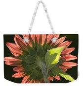 Backlit Sunflower  Weekender Tote Bag
