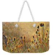 Backlit Thistle Weekender Tote Bag
