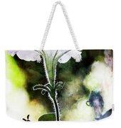 Backlit White Flower Weekender Tote Bag