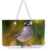 Backyard Bird - White-crowned Sparrow Weekender Tote Bag