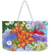Backyard Bouquet Weekender Tote Bag