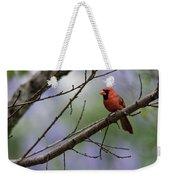 Backyard Cardinal Weekender Tote Bag