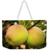 Backyard Garden Series - Two Apples Weekender Tote Bag