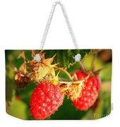 Backyard Garden Series - Two Ripe Raspberries Weekender Tote Bag