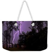 Backyard Lightning Weekender Tote Bag