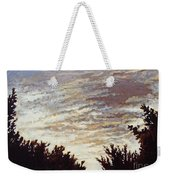 Backyard Sunset Weekender Tote Bag