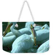 Bad Hair Day At The Pelican Social Gathering  Weekender Tote Bag