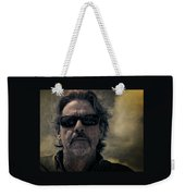 Badass Man In Sunglasses Stares Into The Unknown Weekender Tote Bag