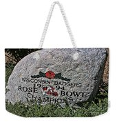 Badgers Rose Bowl Win 1994 Weekender Tote Bag