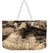 Badlands Sepia Weekender Tote Bag