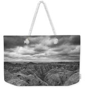 Badlands White River Valley Bw Weekender Tote Bag