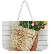 Bag With A Bouquet Of Tulips Weekender Tote Bag