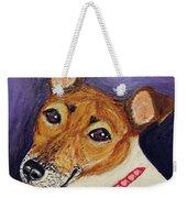 Bailey Terrier Mix Weekender Tote Bag
