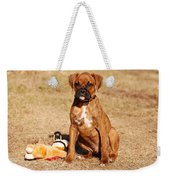 Bailey The Boxer Puppy Weekender Tote Bag