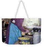 Baker - Preparing Dinner Weekender Tote Bag