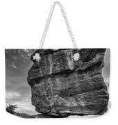 Balanced Rock Monochrome Weekender Tote Bag
