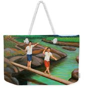 Balancing Life Through A Straight And Narrow Path Weekender Tote Bag