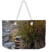 Balancing Zen Stones In Countryside River V Weekender Tote Bag