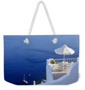 Balcony Over The Sea Weekender Tote Bag