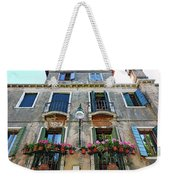 Balcony With Flowers In Venice, Italy Weekender Tote Bag