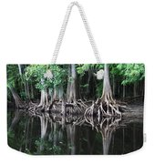Bald Cypress Trees Along The Withlacoochee River Weekender Tote Bag