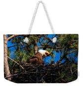 Bald Eagle In The Nest Weekender Tote Bag