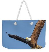 Bald Eagle And Fish Weekender Tote Bag