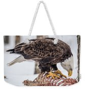 Bald Eagle At The Buffet Weekender Tote Bag