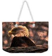 Bald Eagle Electrified Weekender Tote Bag