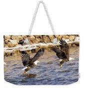 Bald Eagle Fishing Pano Weekender Tote Bag