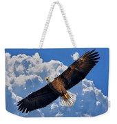 Bald Eagle In Flight Calling Out Weekender Tote Bag